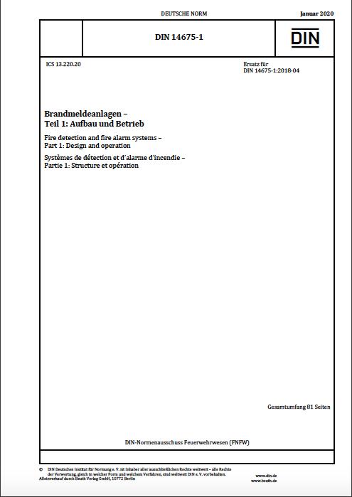 Auszug DIN 14675 Norm Teil 1