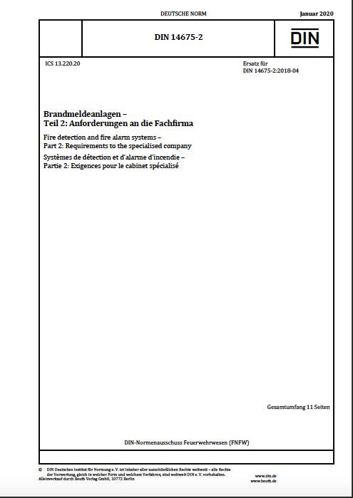 Auszug DIN 14675 Norm Teil 2