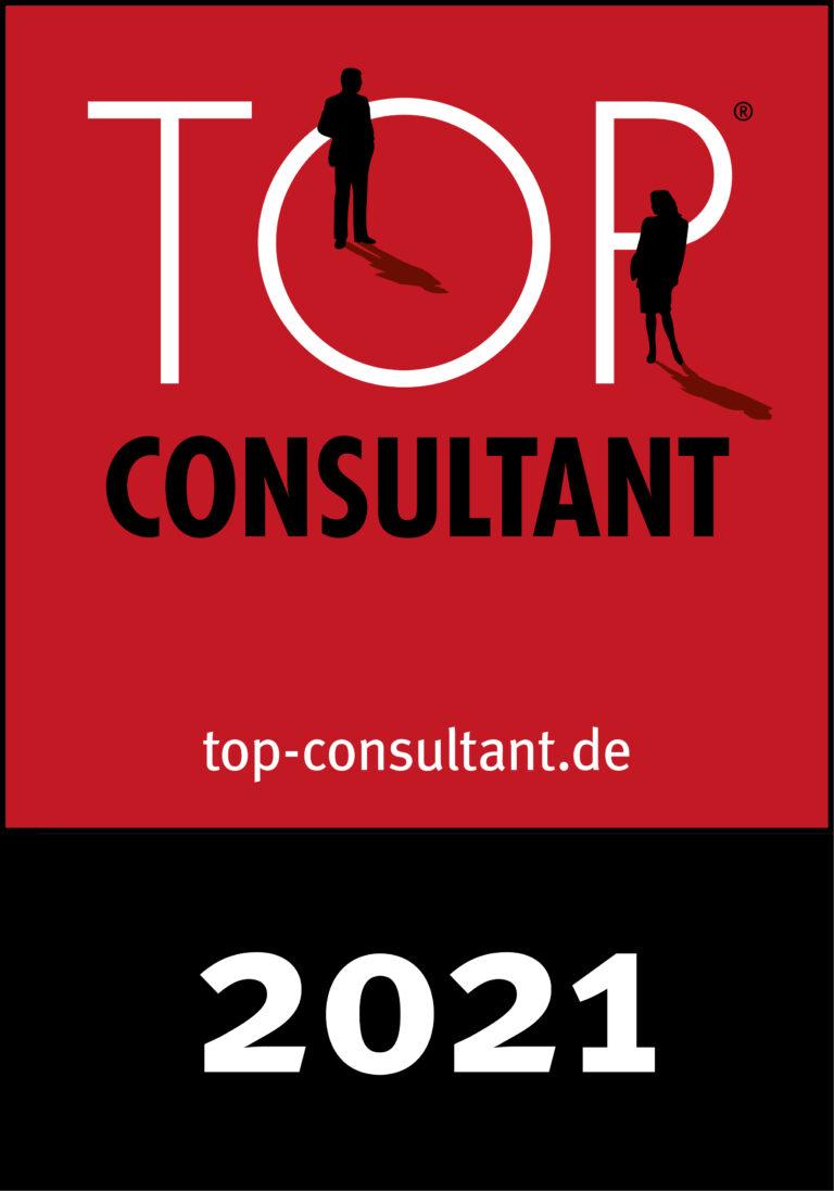 Auszeichnung TOP Consultant 2021 für Unternehmensberatung Wenzel DIN 14675 Zertifizierung