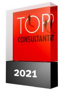 Auszeichnung Trophäe TOP Consultant 2021 für Unternehmensberatung Wenzel DIN 14675 Zertifizierung